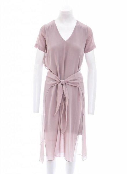 Laura Siegel Silk Waist Tie Dress