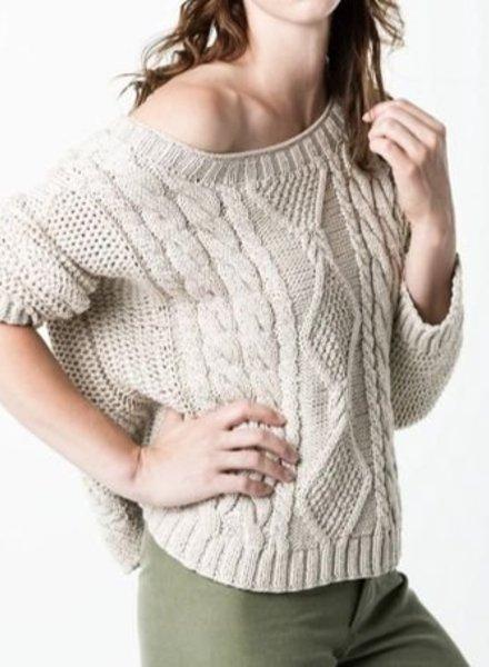 SMYTHE Hand Knit Shoulder Sweater