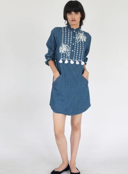 BANJANAN BIRDIE TUNIC DENIM