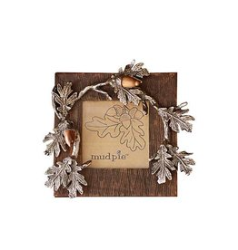 MUD PIE ACORN BOW HANGING FRAME
