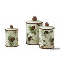 PARK DESIGNS WALK IN THE WOODS CANISTER SET