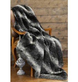 Carstens Black Wolf Fur Throw