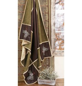 Carstens Pine Cone Grid Throw