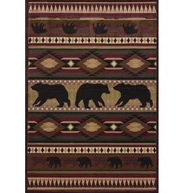 UNITED WEAVERS Native Bear Toffee Rug - Runner