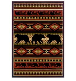 UNITED WEAVERS Native Bear Terracotta Rug - Accent
