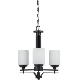CAL LIGHTING Judson Hand Forged Iron 3 Light Chandelier with Glass Shades