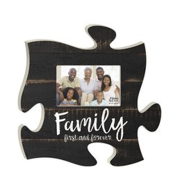 P GRAHAM DUNN Family First and Forever Picture Frame - Puzzle Piece