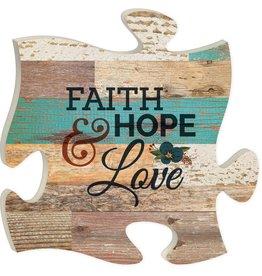 P GRAHAM DUNN Faith, Hope, Love - Puzzle Piece