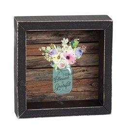 P GRAHAM DUNN Blessed & Grateful - Shadow Box