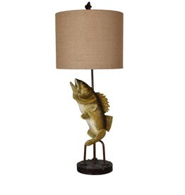 CRESTVIEW Fly Fish Table Lamp DS