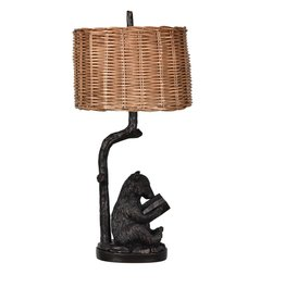 CRESTVIEW Bear Knowledge Table Lamp DS