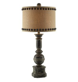 CRESTVIEW Iron Baluster Table Lamp DS