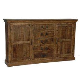 CRESTVIEW Bengal Manor Mango Wood 5 Drawer 2 Door Sideboard DS