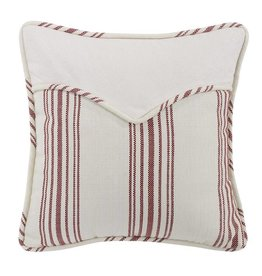 HIEND Bandera Red Striped Decorative Pillow