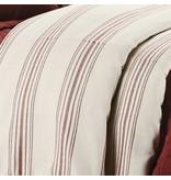 HIEND Prescott Striped Duvet King- Navy, Red, or Beige
