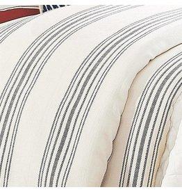 HIEND Prescott Striped Duvet Queen - Navy, Red, or Beige