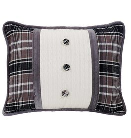 HIEND Whistler Oblong Pillow with Covered Button