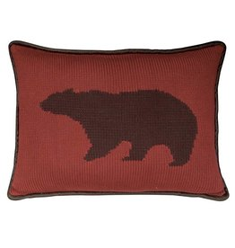 HIEND Red Bear Decorative Toss Pillow