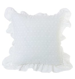 HIEND Decorative Eyelet Pillow