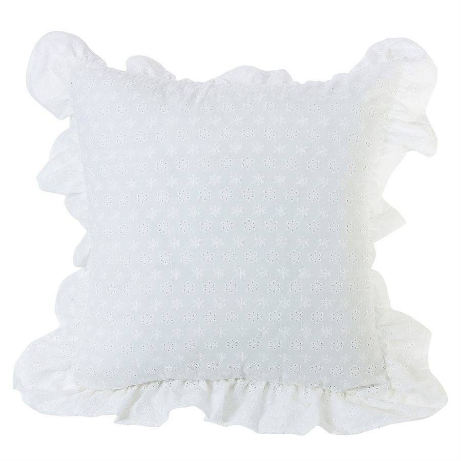 HIEND Decorative Eyelet Pillow