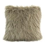 HIEND Mongolian Faux Fur Pillow - Cream, Taupe, Grey, Cream, Chocolate