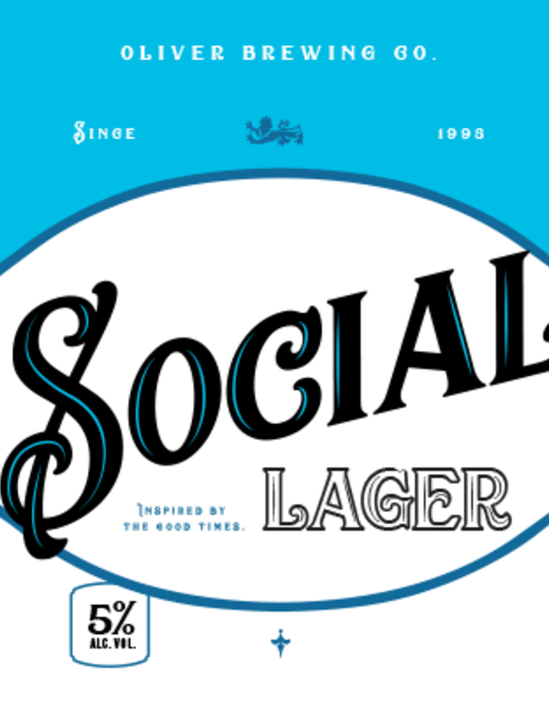 Oliver Social Lager 6pk 12oz cans
