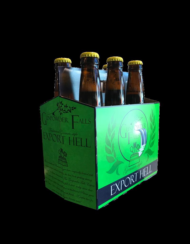 Gunpowder Falls Export Hell Traditional German-Style  Lager 6pk 12 oz. bottles