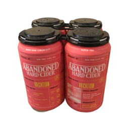 Abandoned 'Vacation' Cider w passion and guava 4pk 12oz cans