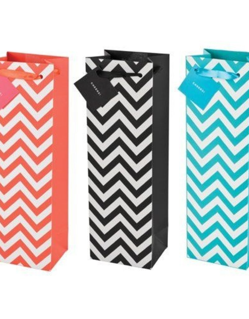 Chevron 1-bottle bag