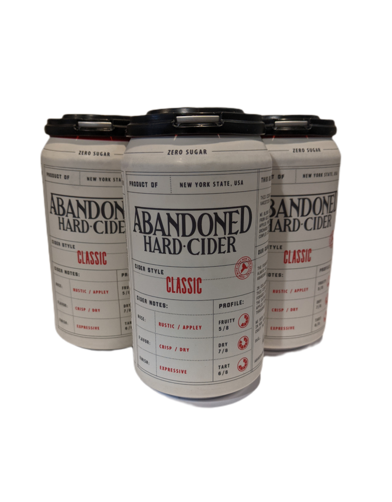 Abandoned Hard Cider Classic 4pk 12oz. cans