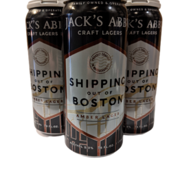 Jack's Abbey Shipping Out of Boston Amber Lager 4pk 16oz cans