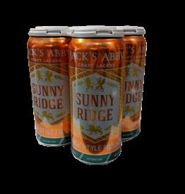 Jack's Abbey Sunny Ridge Czech style Pilsner 4pk 16 oz cans