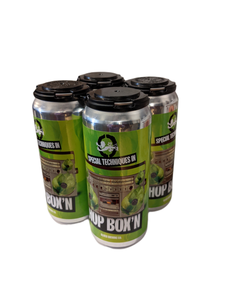 """Oliver Brewing """"Special Techniques in Hop Box,n"""" 2x IPA 4pk 16 oz cans"""