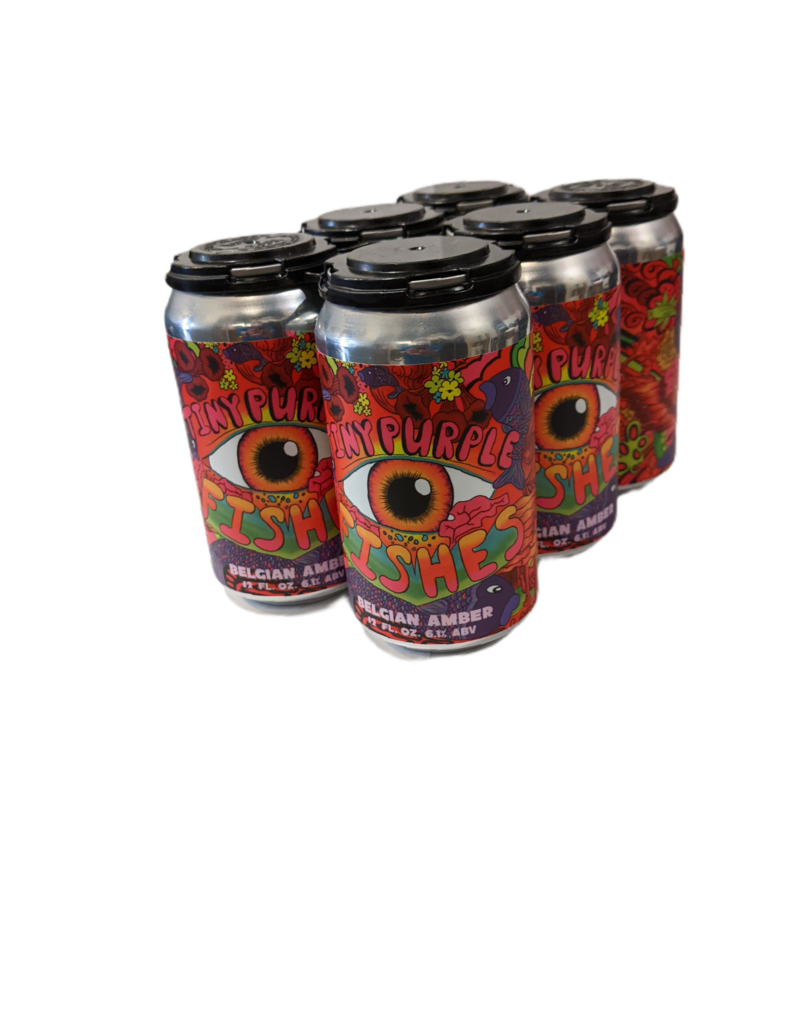 Mobtown Brewing 'Tiny Purple Fishes' Belgian Amber 6pk 12oz. cans