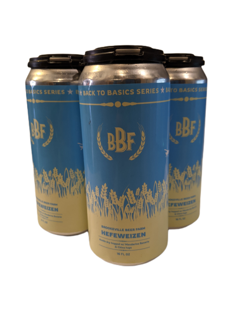 Brookeville Beer Farm Hefeweizen 4pk 16 oz. cans