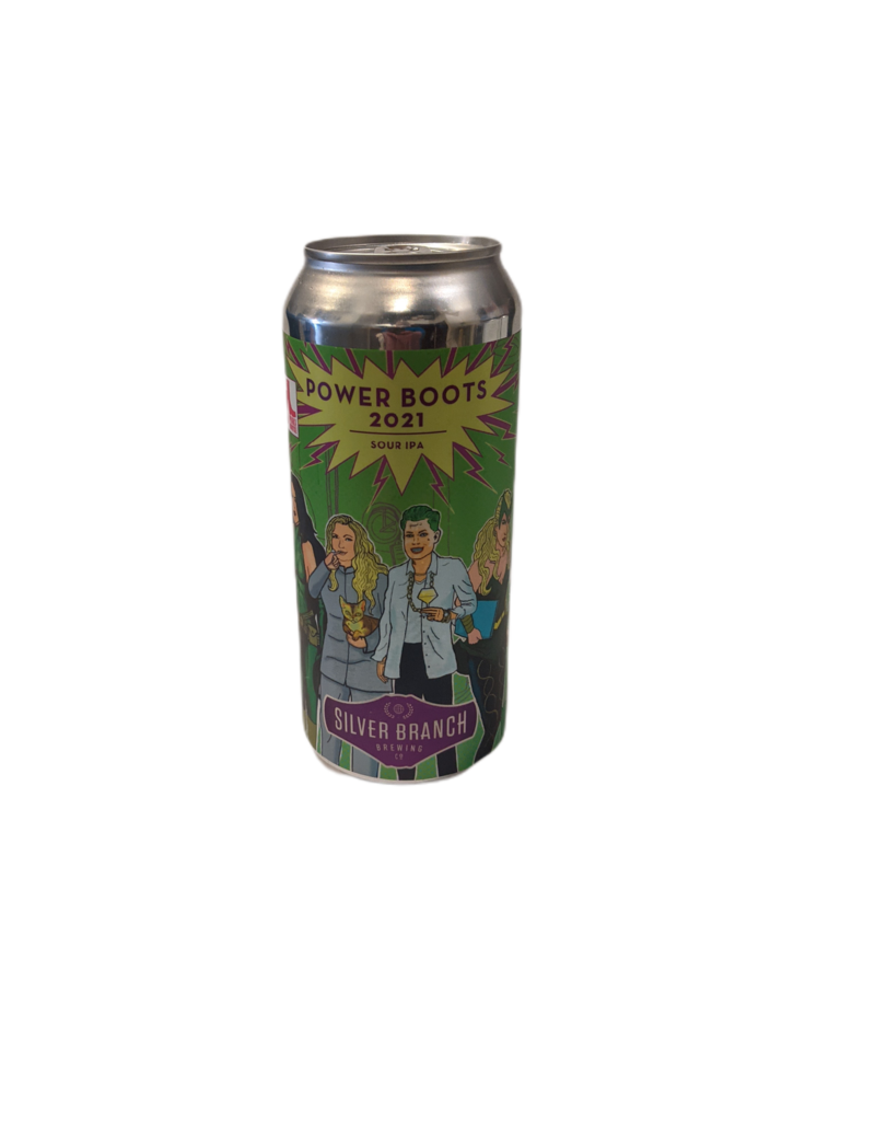 Silver Branch Power Boots 2021 Sour IPA single 16oz. cans