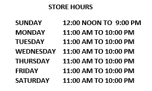 HOURS UPDATE - 11AM TO 7PM