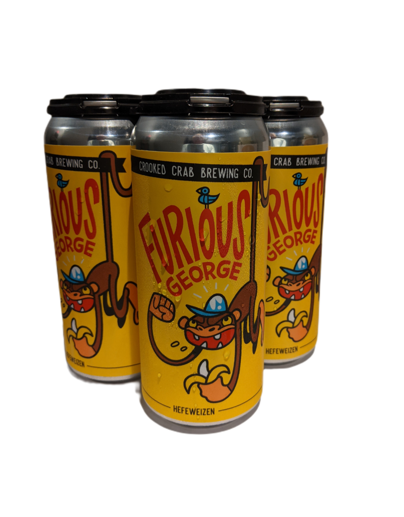 Crooked Crab Furious George Hefeweizen 4pk 16oz. cans