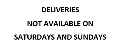 no weekend delivery