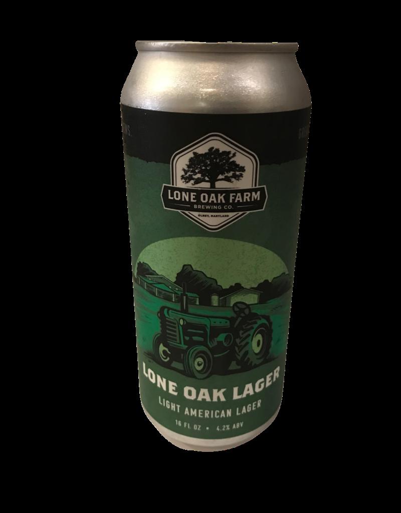 Lone Oak Lager Single 16oz. can