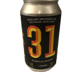 DuClaw '31' Pumpkin Spiced Lager single 12oz can