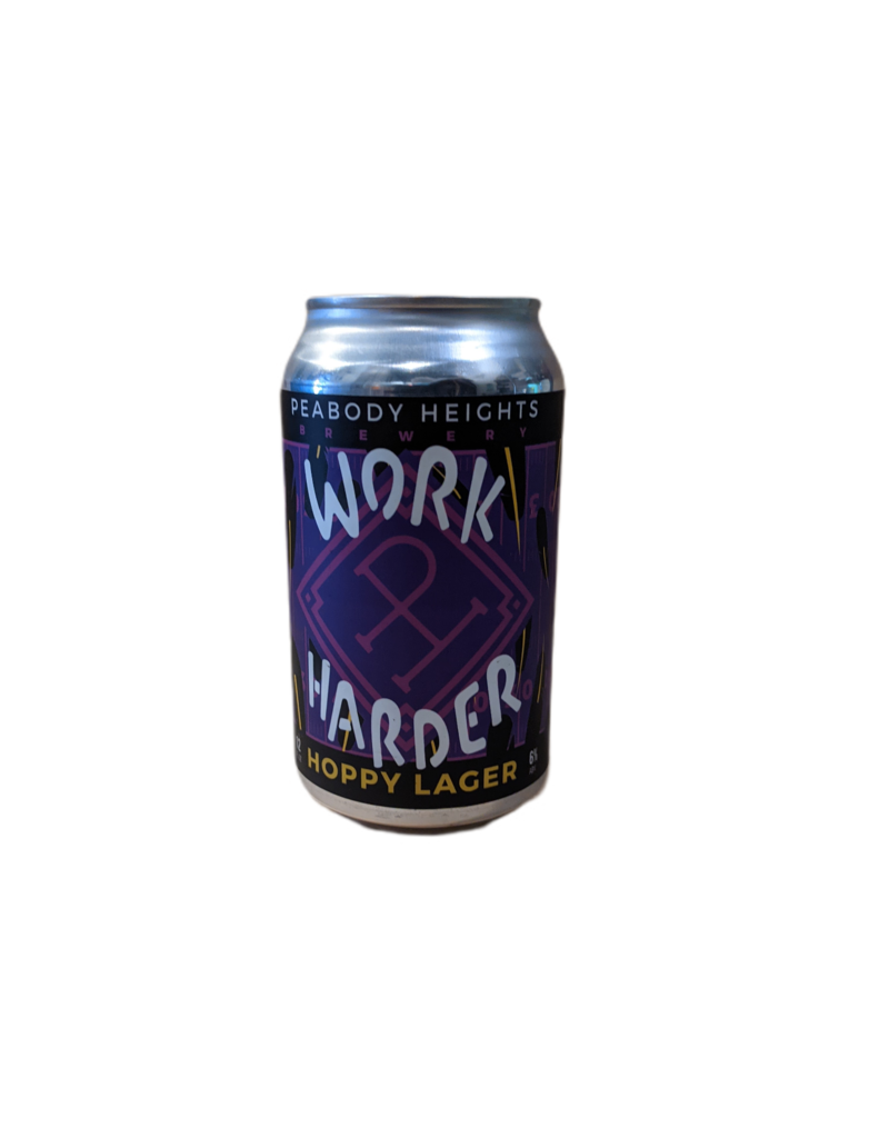 Peabody Heights Work Harder Hoppy Lager Single 12oz. can