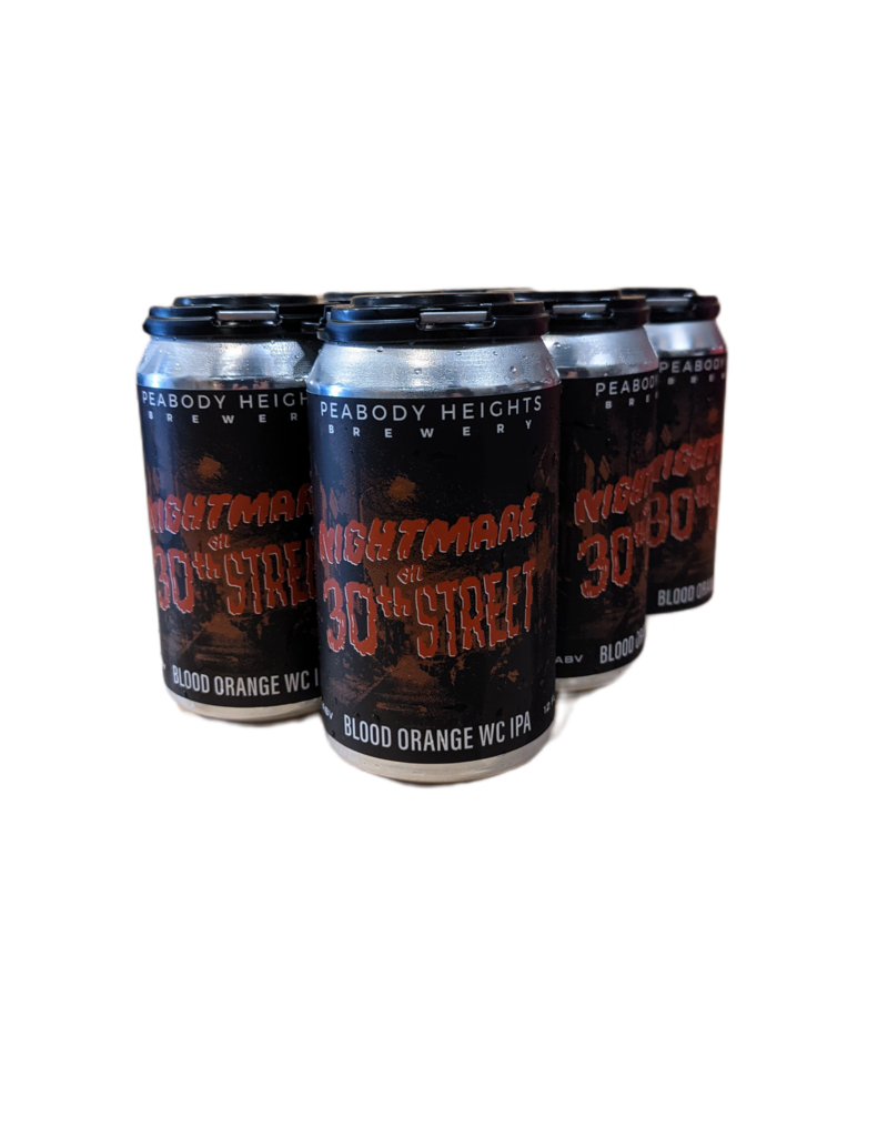 Peabody Heights 'Nightmare on 30th St.' blood orange IPA 6pk 12 oz. cans