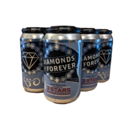 3 Stars Diamonds are Forever Hazy 6pk 12 oz cans