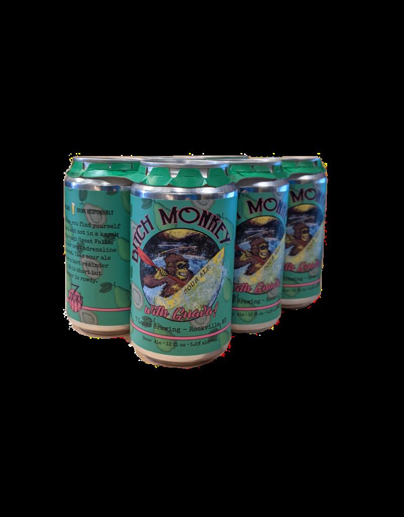 7 Locks Brewing Bitch Monkey Guava Sour 6pk 12 oz cans