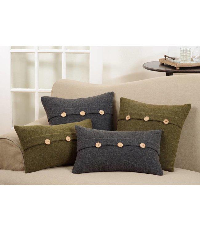 """Cardigan Pillow Grey 18"""""""