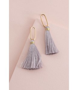 Lovoda Dulaney Tassel Earrings Taupe
