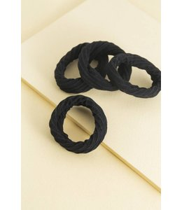 Lovoda Mini Scrunchy Hair Ties Black