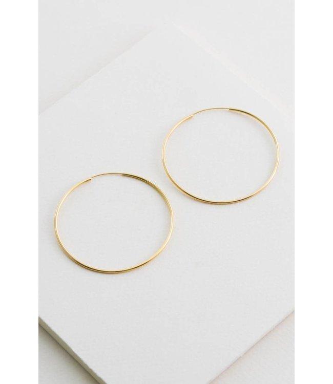 Lovoda Thin Hoop Earrings 14kt Gold