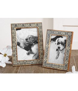 Pattern Bone Photo Frame 4x6